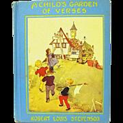 """A Ghild's Garden of Verses"", Robert L. Stevenson, Eulalie Illustrator, HC"