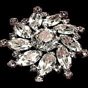 Designer Signed Vintage Weiss flower Pin or Brooch