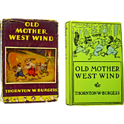 """Mother West Wind """"When"""" Stories by Thornton Burgess, 1917"""