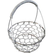 Miniature Doll Size Wire Egg Basket