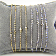 SALE Yellow Gold Gold Diamond by the Yard Necklace AND Bracelet - Diamond by the Yard - Annive