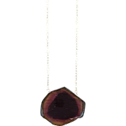 12.13 Carat Watermelon Tourmaline Slice Pendant in 14K Yellow Gold - Watermelon Tourmaline ...