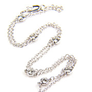 SALE Diamond Yard White Gold- Diamond by the Yard - 1 carat Diamond Necklace - Diamond Necklac