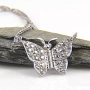 Diamond Butterfly Necklace - Butterfly Necklace - Diamond Bug - Diamond Butterfly - Insect ...