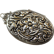Repousse Oval Pendant Locket, Large and Lovely