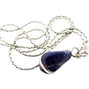 Accessocraft NYC Lapis Pendant Necklace