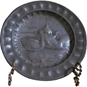 WIGGLEWORK PEWTER PLATE