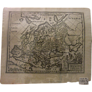 CLUVERIUS MAP OF EUROPE 1729