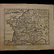 SENEX MAP OF FRANCE 1747
