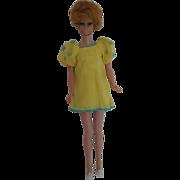 1969 Francie Yellow Bits Dress & Shoes