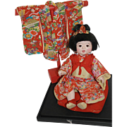 """SALE 13"""" Japanese Toddler Girl Doll with Extra Kimono"""
