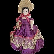 "SOLD Vintage 7"" Ruth Gibbs Little Miss Godey Doll"