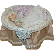 SALE 1950's NASB Baby in orig. Bassinet