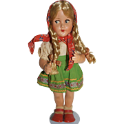 SALE German Rubber doll in Ethnic Costume