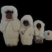 Bunny-Clad Family of Alaskan Dolls