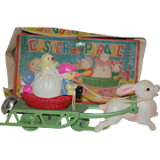 SALE Celluloid and Metal Easter Parade Wind up Toy - orig. Box