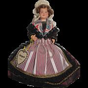 French Celluloid Perigord Doll - Regional Dress