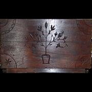 SALE Wonderful Walnut Carved Americana Folk Art Wall Rack