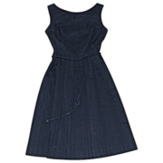 SALE Wonderful Pleated 1960's Little Black Dress