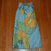 REDUCED Vintage 1970's Mod Cocktail Dress w/ Fabulous Fabric!