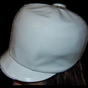 SALE British Invasion 1960's White Vinyl Bucket Hat