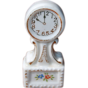 SALE Dollhouse Porcelain Banjo Mantle Clock