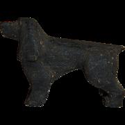Carved Wood Cocker or Springer Spaniel Dog