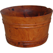 SALE Antique Treenware Washtub Cup