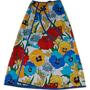 SALE Vintage Talbot's Maxi Mod Wrap Skirt