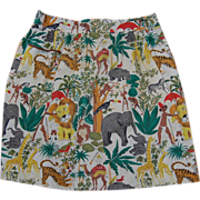 SALE Vintage Jungle Print Kitchen Apron