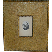 Large Embossed Cabinet Card Photo Frame
