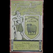 SALE Trojan Knit Health Underwear Advertising Store Box Troy NY