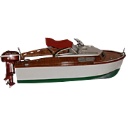 SALE Fleet Line #551 Marlin Wood Speedboat Original box and motor