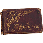 SOLD Late 1800's School Girl Autograph Book