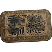 Tropical Blend Best Crystallized Ginger Candy Tin