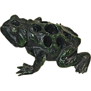 Painted Toad Metal Flower Frog
