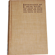 Intentions By Oscar Wilde New York Edition 1894