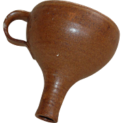 Vintage Brown Albany Slip Crockery Funnel