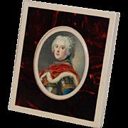 German D.R.G.M. Celluloid Frame and Royal Portrait