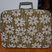 Vintage Modern Rug Top Samsonite Fashionaire Suitcase