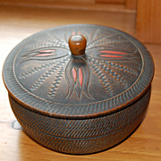 REDUCED Vintage Wood Japanese Trinket Box lathe turned