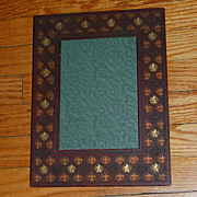 SALE Vintage Embossed Faux Leather Photo Frame