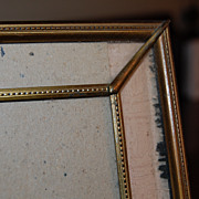 SALE Beautiful Vintage Stamped Brass Photo Table Frame