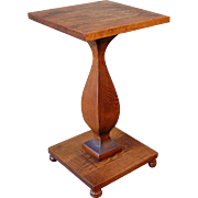 SALE Early 1900's Sculptural Oak Side Table Plant Stand