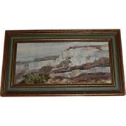SALE Charles Gross Signed Watercolor Cliff Landscape