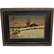 SALE Clinton Loveridge Cabin in the Mountains Landscape