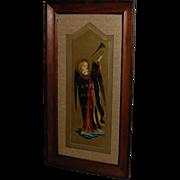 Renaissance Style Angel Gabriel Print in Lovely Wooden Frame