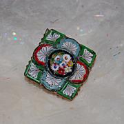 SALE Vintage Italian Micro Mosaic Pin