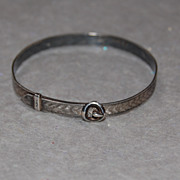 SALE Vintage Sterling Expandable Bracelet for a Child