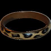 SALE Vintage Faux Leopard Print Bangle Bracelet
